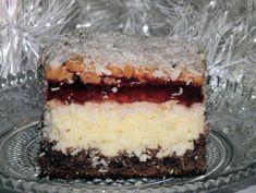 Ciasto kokosowe z galaretką w lekkim zimowym puchu ;) Polish Desserts, Oreo Cupcakes, Homemade Cakes, Tiramisu, Caramel, Cheesecake, Food And Drink, Cooking Recipes, Chocolate
