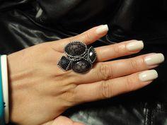Black/Silver Ring $5 Qty 1