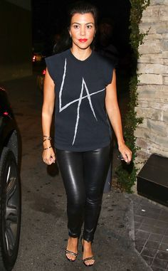 Kourtney Kardashian from The Big Picture: Today's Hot Pics  The Keeping Up With the Kardashians star leaves the Mexican restaurant Casa Vega in Studio City, California after having dinner with Kris Jenner and her boyfriend Corey Gamble.