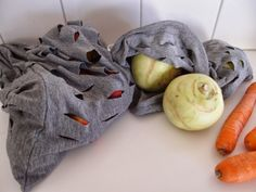 Obstbeutel aus T-Shirt / Grocery bag made from old shirt / Upcycling