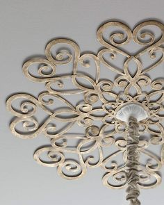 Scrolled Ceiling Medallion - How cool would that be for a chandelier