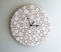 White Birch Forest Clock