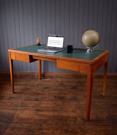 Vintage Mid Century Wooden MOD Desk Kitchen Table -  Industrial - CAN DELIVER