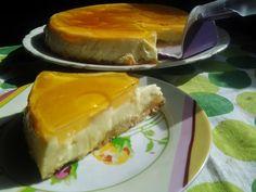 Tarta de piña y nata sin horno