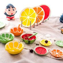 Chinese rice fruit watermelon porcelain ceramic bowl spoon table ware tableware bowls spoons kitchen tools products practical(China (Mainland))