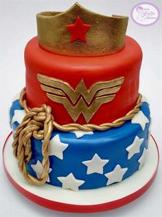 Wonder Woman Birthday, Wonder Woman Party, Muppet Babies, Dic, Birthday Cake, Birthday Parties, Bakery, Sweet Treats, Birthdays