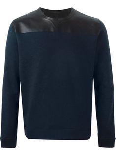 VALENTINO Leather Panel Sweatshirt. #valentino #cloth #sweatshirt