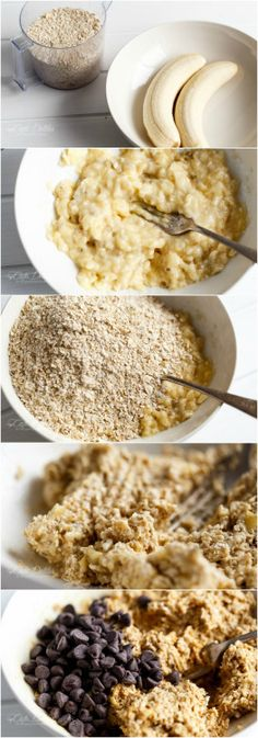 HEALTHY 2-INGREDIENT BREAKFAST COOKIES Really nice recipes.  Mein Blog: Alles rund um Genuss & Geschmack  Kochen Backen Braten Vorspeisen Mains & Desserts!