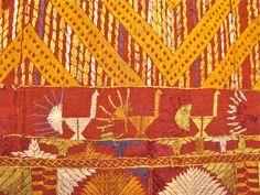Embroidery of phulkari from India