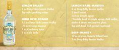 Deep Eddy Lemon Vodka - cocktail recipes!