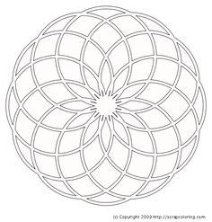 Mandala coloring pages. These Mandala pictures are online coloring pages that can be colored with color gradients and patterns. Printable coloring pages are also included if you prefer to color with paper and crayons. Mandala Design, Mandala Dots, Mandala Pattern, Pattern Art, Geometric Drawing, Mandala Drawing, Mandala Painting, Dot Painting, Mandala Tattoo