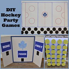 DIY Hockey Party Games - easy, inexpensive and sure to score big points with party guests.