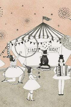 Circus Night Print by Madame Lolina