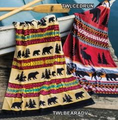 Earth Ragz Bear Adventure and Cedar Run Towels