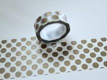 Washi Masking Tape GOLD PUNKTE