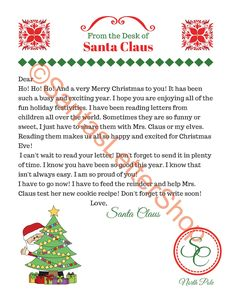 Send Your Child A Santa Letter From The North Pole  Free