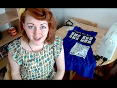 ▶ How To Make The TARDIS Dress - YouTube. I know a certain someone that would look too cute in this! Cough, cough....KW!!  :)