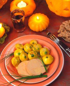 Halloween : Foie Gras, ciboulette et pâtissons