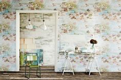 "Lush painterly ""garden"" wall papers designed by contemporary impressionist painter Jessica Zoob and distributed in NZ by seneca.co.nz"