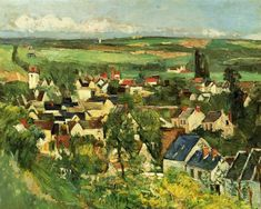 Paul Cézanne (1839-1906) Auvers, Panoramic View 1873-1875. Oil on canvas. 65,2 x 81,3 cm. The Art Institute of Chicago, 1933.422.