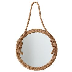 top rope nautical mirror