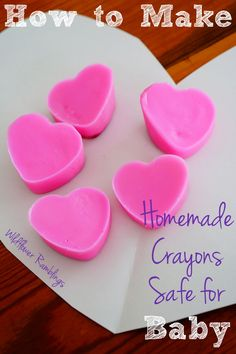Fun Valentine's Day craft: Heart Crayons, Safe for Baby! {Wild Flower Ramblings}