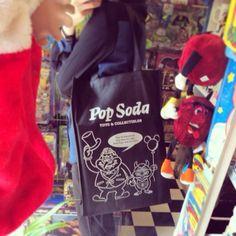 PopSodaオリジナル+トートバッグ☆サンプルが届きました?使いやすい大きさです(^^)+#popsoda+#toyshop+#osaka+#japan