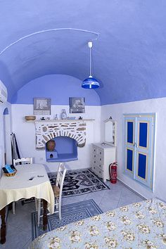 So little to clean. All I want is a room somewhere, far away from the cold night sir... Greek island home