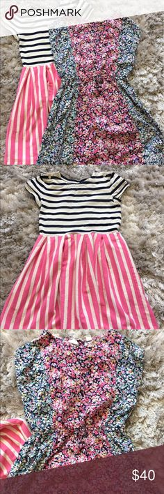 Girls Gap Spring Dress Set These are from Spring 17 and SOLD OUT online. The floral dress has a small button back closure and the striped dress buttons atop the shoulders. These are in excellent condition and price is firm since I purchased brand new and my daughter outgrew them literally minutes after they were purchased 🙄 Size small 6/7, home is smoke and pet free. GAP Dresses Casual