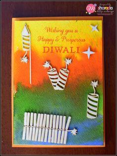 HappyMomentzz crafting by Sharada Dilip: October 2018 Diy Diwali Cards, Handmade Diwali Greeting Cards, Diy Diwali Decorations, Diwali Diy, Diwali Card Making, Animal Crafts For Kids, Craft Activities For Kids, Preschool Crafts, Diwali Craft For Children
