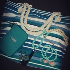 Loving turquoise at Heel to Toe with beads, bags & bling!