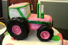 pink john deere cake | Cakes by Katie Wagoner: Pink John Deere