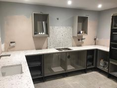 Bianco Foresta- Fordham, Cambridgeshire - Rock and Co Granite Ltd U Shaped Kitchen, Splashback, Granite, New Homes, Colours, House, Collection, Home Decor, U Shape Kitchen