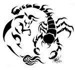 Taurus and Scorpio: Tattoo Design by kawaii-oekaki-chan on DeviantArt Scorpio Tatto, Taurus Bull Tattoos, Scorpio And Capricorn, Leo Tattoos, Taurus Love, Zodiac Tattoos, Couple Tattoos, Animal Tattoos, Body Art Tattoos