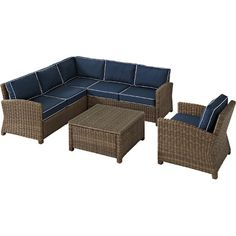 5-Piece Bethany Patio Seating Group in Navy  at Joss and Main