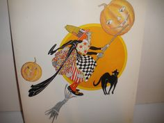 RARE Vintage Halloween Card Menu Holder from SS Independence Liner SHIP Cruise | eBay