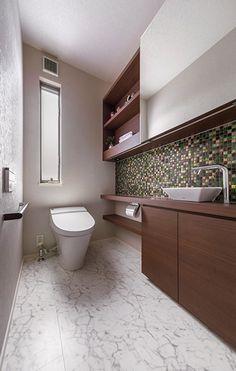 トイレ・洗面室 Bathroom Toilets, Washroom, Ideal Bathrooms, Toilet Room, Corner Bathtub, Powder Room, Home Deco, My House, Shower