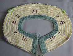 Baby Boy Cardigan vom Hals gestartet 3 - My CMS Knitting For Kids, Crochet For Kids, Loom Knitting, Knitting Stitches, Baby Knitting, Baby Patterns, Knitting Patterns, Cardigan Bebe, Baby Sweaters