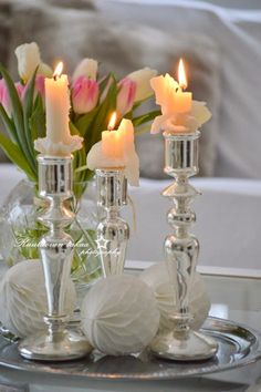Candles | Candlesticks | Candlelight | Flowers | The Rose Garden