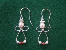 wire wrapped angel earrings