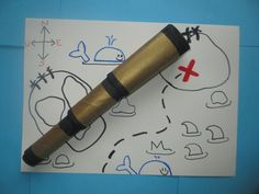 All little pirates need their very own telescope! This DIY pirate telescope is really simple and easy to make and will provide hours of fun! Sheep Crafts, Owl Crafts, Bunny Crafts, Pirate Hat Crafts, Telescope Craft, Homemade Pirate Costumes, Pirate Fancy Dress, Shape Collage, Kawaii Bunny
