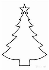 Rhyming Christmas Trees - In My World FREE Christmas tree template Más Christmas Tree Outline, Christmas Tree Stencil, Christmas Ornament Template, Christmas Tree Printable, Christmas Tree Coloring Page, Live Christmas Trees, Christmas Tree Pattern, Christmas Tree Crafts, Colorful Christmas Tree