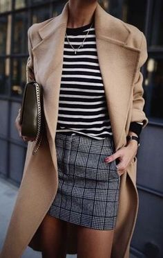 0afcbccd038 mix prints and add some camel colour coat. Perfect for a bruch in the city.  chain bag too.
