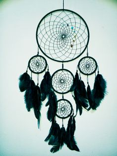 Black dreamcatcher by special order! Hand crafted, handnade instagram/asiczary