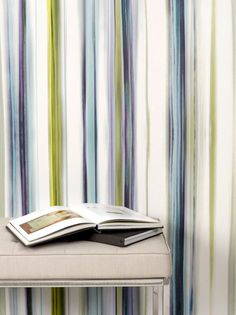 Painted green and blue patterned wallpaper from Trove, cool and soothing for any room