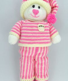 This Bedtime Bear Tedding Knitting Pattern is easy to follow with clear written instructions.  The A5 printed knitting pattern enables you to make a gorgeous bear, dressed for bed time, for your little one.  You can knit with double knitting yarn in any colour to make this toy suitable for boys or girls.  Approx 38cm tall when standing.  We sell the yarn required for Bedtime Bear so why not purchase some at the same time so that you can get knitting straight away!  100g white, 100g cream or…