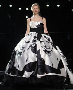 It's a Marilyn Monroe print on the dress.  I freaking love it.