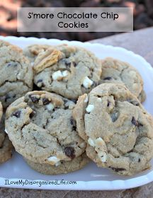 {I Love} My Disorganized Life: S'more Chocolate Chip Cookies