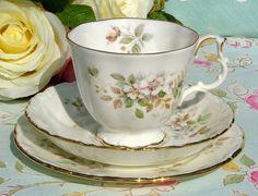 Royal Albert Haworth vintage teacup, saucer and tea plate