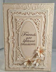 Handmade birthday card using spellbinders dies. Flowers made with Sara Davies Signature floral dies.